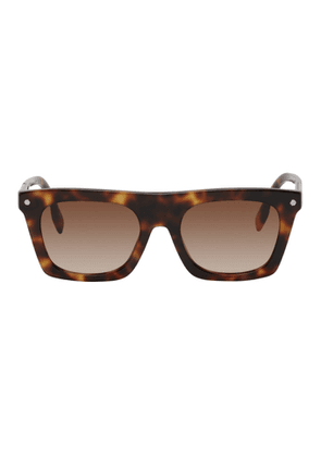 Burberry Tortoiseshell Rectangular Frame Sunglasses