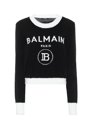 Logo wool-blend sweater
