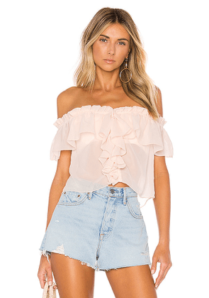 House of Harlow 1960 X REVOLVE Garrett Top in Pink. Size M, S, XS.