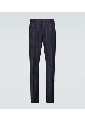 Pleated pinstriped pants