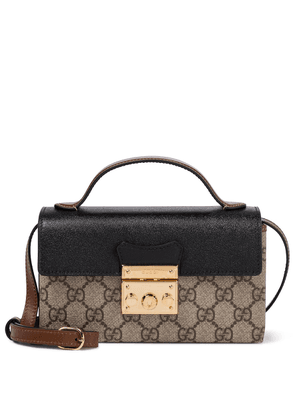 Padlock GG leather-trimmed shoulder bag