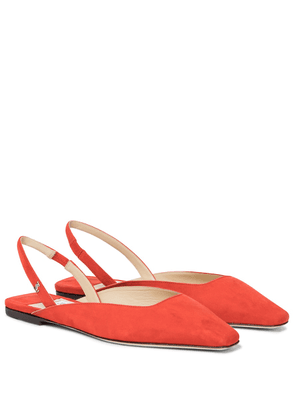 Gini suede slingback ballet flats