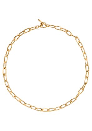 18kt gold-plated chain necklace