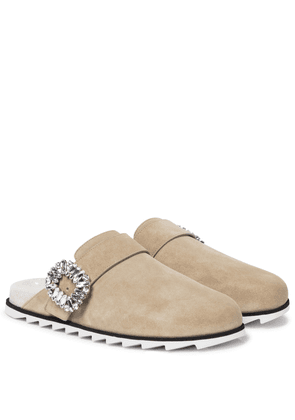 Slidy Viv' suede slippers
