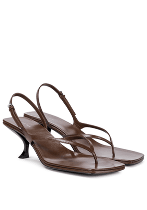 Constance leather thong sandals