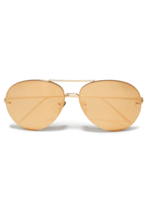 Linda Farrow Aviator-style Gold-tone Mirrored Sunglasses Woman Gold Size --