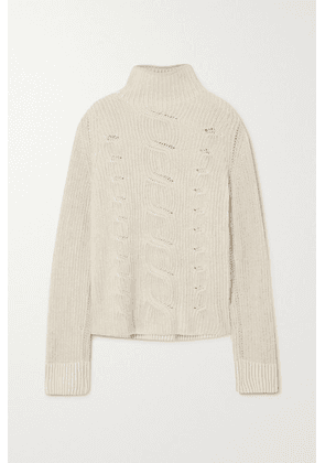 Loro Piana - Williamsburg Cable-knit Turtleneck Sweater - Beige