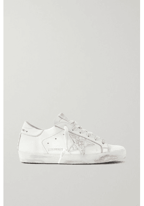 Golden Goose - Superstar Faux Pearl-embellished Distressed Leather Sneakers - White