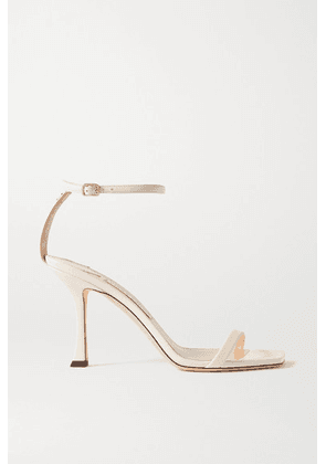 Jimmy Choo - Marin 90 Leather Sandals - Off-white