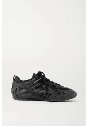 Balenciaga - Drive Logo-print Leather, Rubber, Mesh And Suede Sneakers - Black