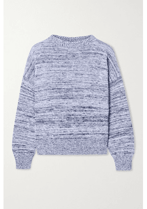 Max Mara - + Leisure Hangar Mélange Cotton Sweater - Navy