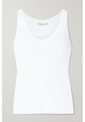 Max Mara - Zadar Ribbed-knit Tank - White