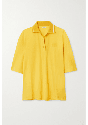 Loewe - Oversized Cotton And Cashmere-blend Piqué Polo Shirt - Yellow