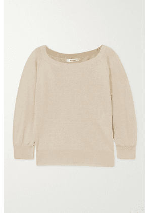Max Mara - Harold Silk And Linen-blend Sweater - Beige