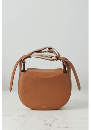 Chloé - Kiss Small Leather Tote - Brown