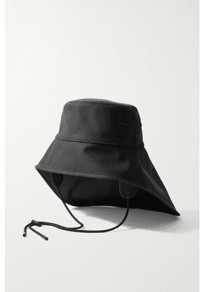 Burberry - Coated Cotton-blend Bucket Hat - Black
