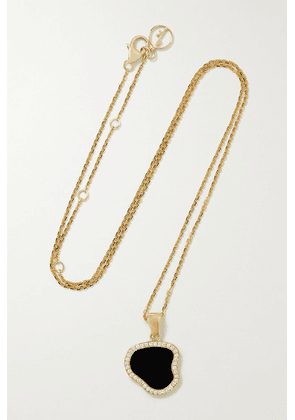 Anissa Kermiche - Belle De Nuit 14-karat Gold, Onyx And Diamond Necklace