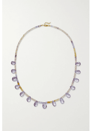 JIA JIA - Gold, Sapphire And Amethyst Necklace - Lilac