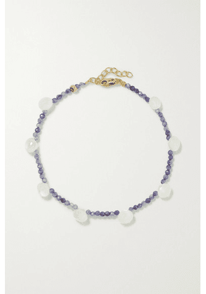 JIA JIA - Gold, Silverite And Moonstone Bracelet - Lilac