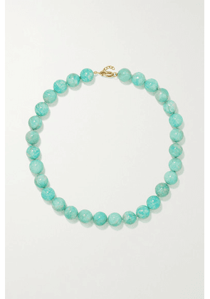 JIA JIA - Gold Amazonite Necklace - Green