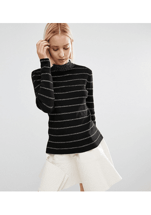 Weekday Stripe Knitted Jumper-Gold