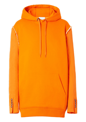 Burberry reconstructed panelled hoodie - Orange