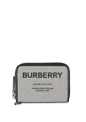 Burberry logo-print zip-fastening wallet - Black