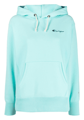 Champion embroidered logo hoodie - Blue