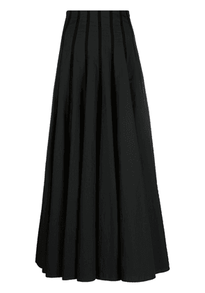 Brunello Cucinelli ribbon-pleat A-line skirt - Black