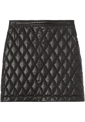Burberry diamond quilted mini skirt - Black