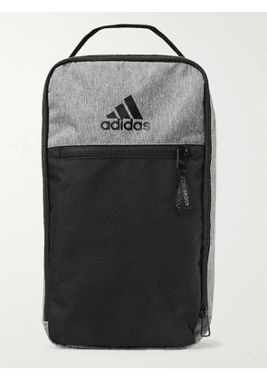 ADIDAS GOLF - Logo-Print Colour-Block Shell Golf Shoe Bag - Men - Gray