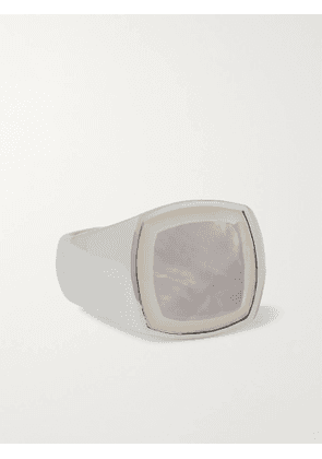 TOM WOOD - Sterling Silver Mother-of-Pearl Signet Ring - Men - Silver