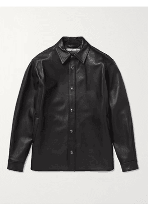 ACNE STUDIOS - Lark Leather Overshirt - Men - Black