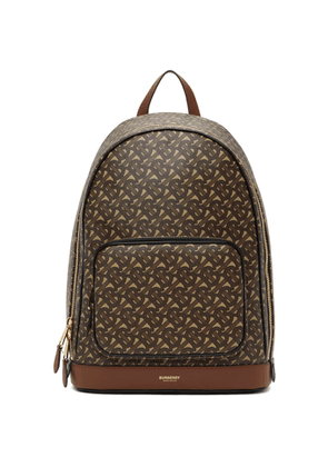 Burberry Brown E-Canvas Monogram Rocco Backpack