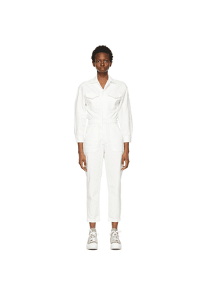 Citizens of Humanity White Denim Marta Jumpsuit
