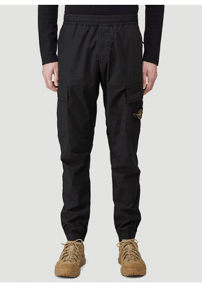 Stone Island Cargo Tapered Pants in Black