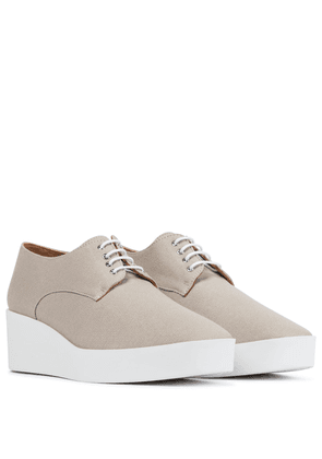 Lindsi platform canvas Derby shoes