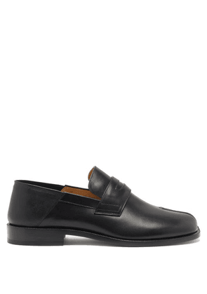 Maison Margiela - Tabi Split-toe Collapsible-heel Leather Loafers - Mens - Black