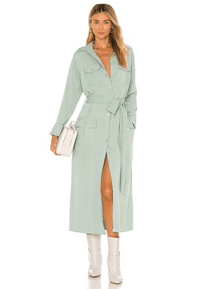 The Line by K Bree Trench Dress in Mint. Size M.