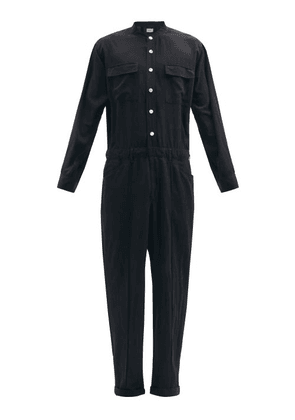Bed J.w. Ford - Wide-leg Poplin Jumpsuit - Mens - Black