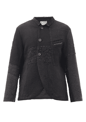 By Walid - Martin Upcycled Cotton Patchwork Jacket - Mens - Black