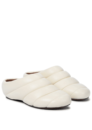 Puffy Rondo leather slippers