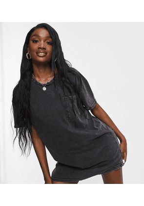 Brave Soul Tall vera t-shirt dress in black
