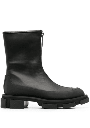 Both zip-up ankle boots - Black