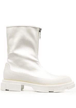 Both zip-up ankle boots - WHITE