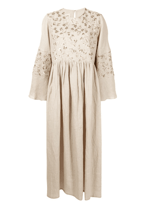 Bambah x Ramadan Lilly embroidered jumpsuit - Neutrals