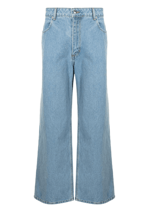 Eckhaus Latta straight-leg denim jeans - Blue