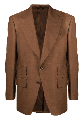 TOM FORD single-breasted blazer - Brown