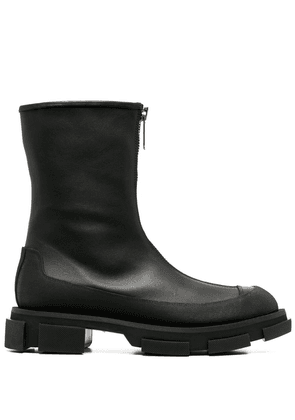 Both zipped-up boots - Black