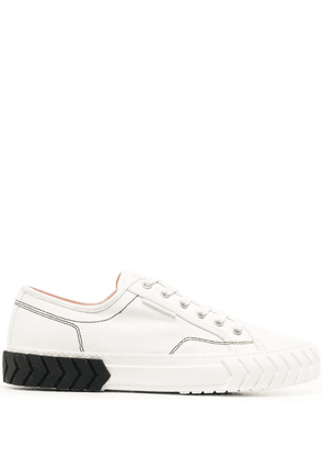 Both textured-sole sneakers - White